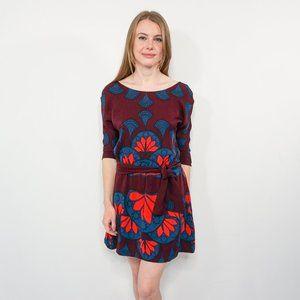 MARA HOFFMAN Silk Floral Print Cowl-Back Dress